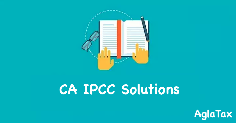 CA IPCC Suggested Answers
