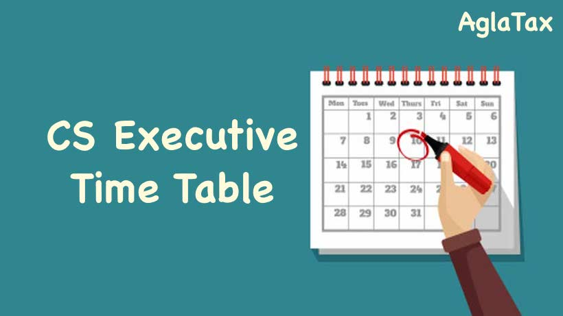CS Executive Time Table