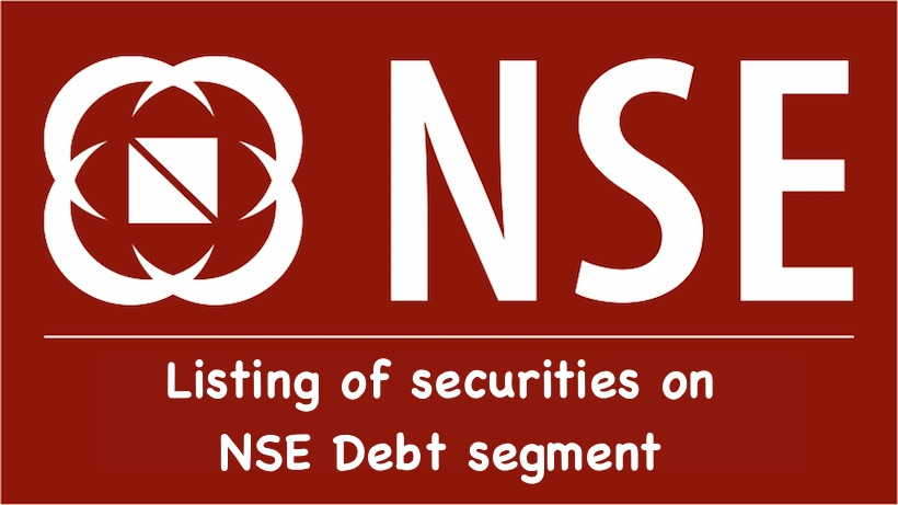 Listing of securities on NSE Debt segment